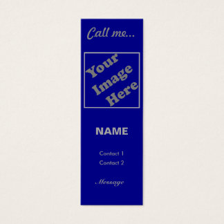 Call Me... (Navy Vertical) Mini Business Card