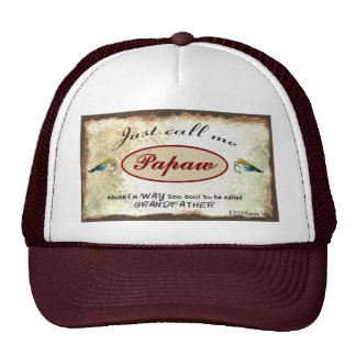 Call Me Papaw Cool Grandfather Fishing Lures Hat