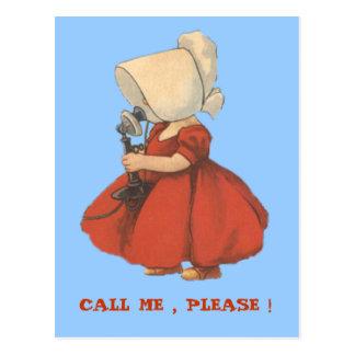 CALL ME, PLEASE POSTCARD