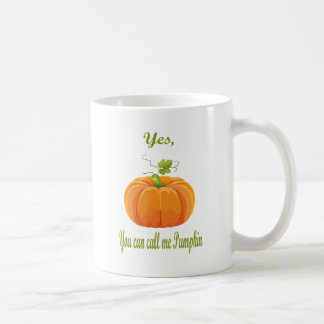call me pumpkin coffee mug