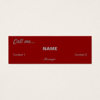 Call Me... (Red) Mini Business Card