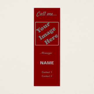 Call Me... (Red Vertical) Mini Business Card