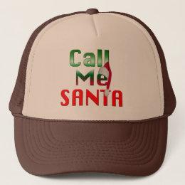 call me santa funny christmas hat design