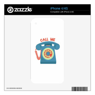 Call Me Decal For The iPhone 4