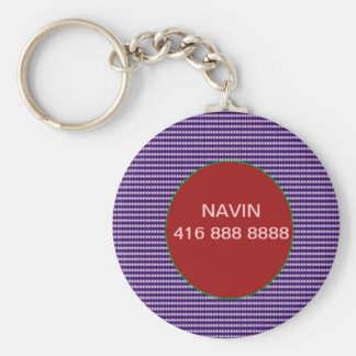 CALL-ME-Svp  Replace Name and Phone Number Basic Round Button Keychain