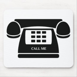 Call Me!  Telephone!  Let's Talk! Mouse Pad
