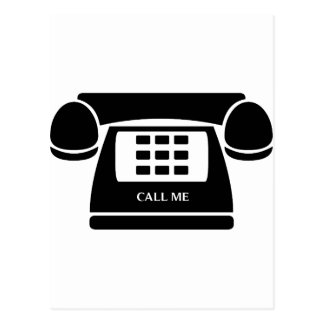 Call Me!  Telephone!  Let's Talk! Postcard
