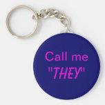 Call Me They/Custom Pronoun Keychains