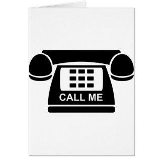 Call Me Tshirt Card