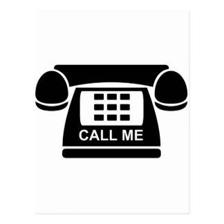 Call Me Tshirt Postcard