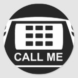 Call Me Tshirt Round Stickers
