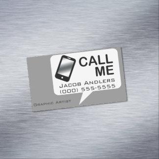 Call Me V10 Business Card Magnet