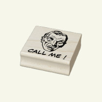 Call me ! - Vampire Rubber Stamp