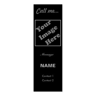 Call Me... (Vertical) Double-Sided Mini Business Cards (Pack Of 20)