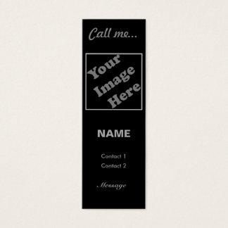 Call Me... (Vertical) Mini Business Card