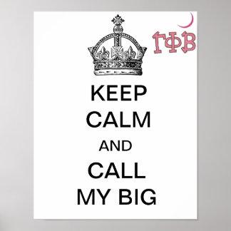 Call My Big Poster