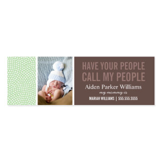 CALL MY PEOPLE | MOMMY CALLING CARD Double-Sided MINI BUSINESS CARDS (Pack OF 20)