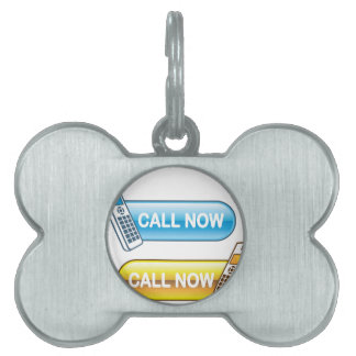 Call now button Web with house phone Pet Name Tag