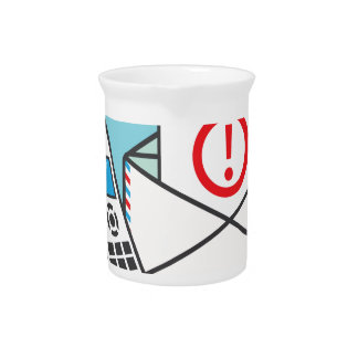 Call now Important Letter Drink Pitcher