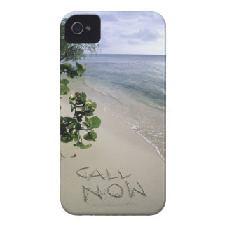 'Call Now' sand written on the beach, Jamaica Case-Mate iPhone 4 Case