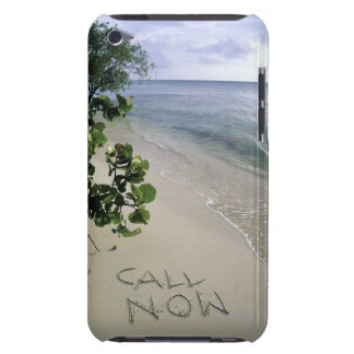 'Call Now' sand written on the beach, Jamaica Case-Mate iPod Touch Case