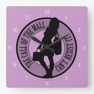 Call Of The Mall Square Wall Clock