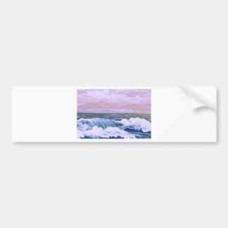 Call of the Sea Ocean Waves Sailing Seascape Bumper Sticker