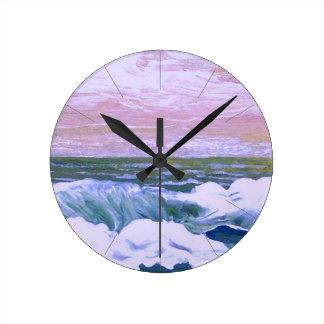 Call of the Sea Ocean Waves Sailing Seascape Clock