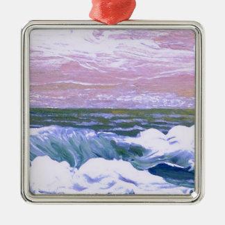Call of the Sea Ocean Waves Sailing Seascape Metal Ornament