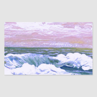 Call of the Sea Ocean Waves Sailing Seascape Rectangular Sticker