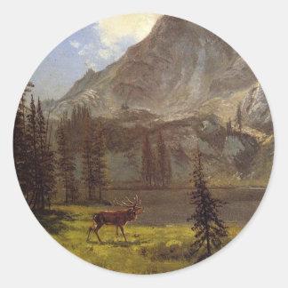 Call of the Wild - Albert Bierstadt Classic Round Sticker