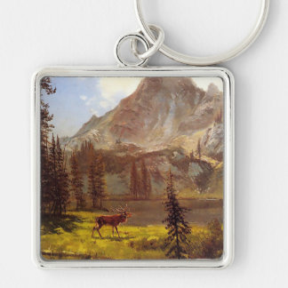 Call of the Wild by Albert Bierstadt 1876–77 Keychain
