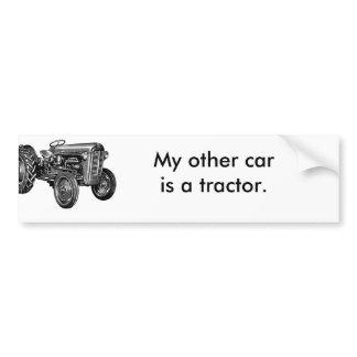 Call of the Wild Tractor Custom Bumper Sticker