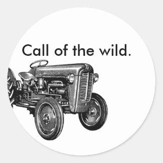 Call of the Wild Tractor Custom Classic Round Sticker