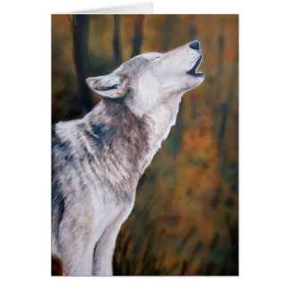 """Call of the Wild"" Wolf Art Notecard Greeting Card"