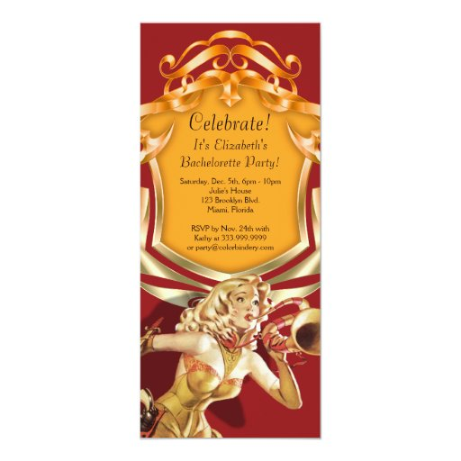 Call Out 4 x 9.25 Inch Party Invitation