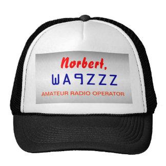 Call sign Amateur Radio Cap Trucker Hat