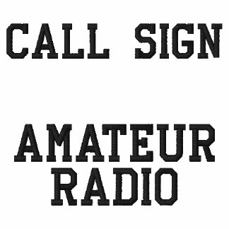 Call Sign Amateur Radio Embroidered Hooded Sweatshirt