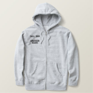 Call Sign Amateur Radio Embroidered Hoodie