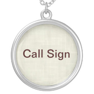 Call Sign Necklace for Ham Radio Operators