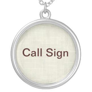 Call Sign Necklace for Ham Radio Operators