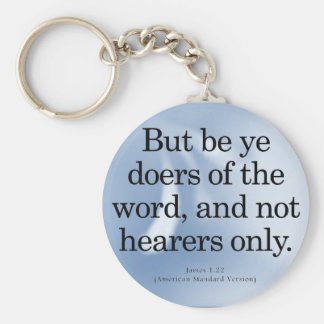 Call to Action James 1-22 Keychain