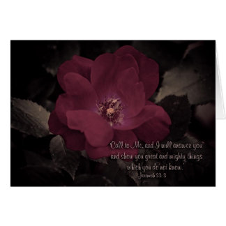 'Call to Me, and I will answer you  and show... Greeting Card