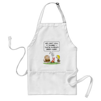 call wheel fire already used caveman adult apron