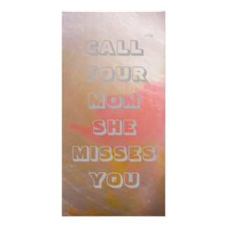 """Call Your Mom"" Bookmark Sized Modern Chic Cards"