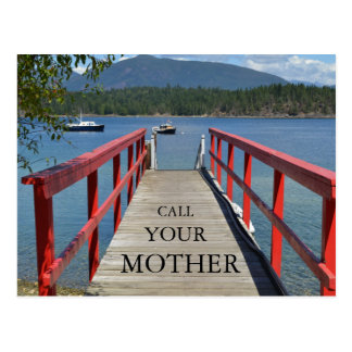 """""""Call Your Mother"""" Postcard"""