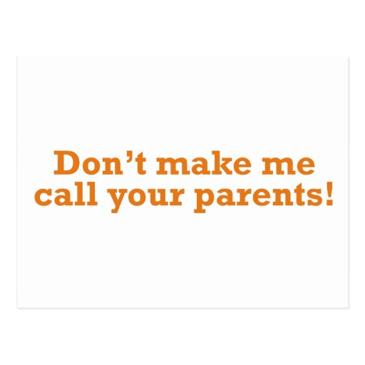 Call your Parents Post Card