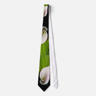 Calla Lilies and Leaves Tie