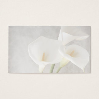 calla lilies business card
