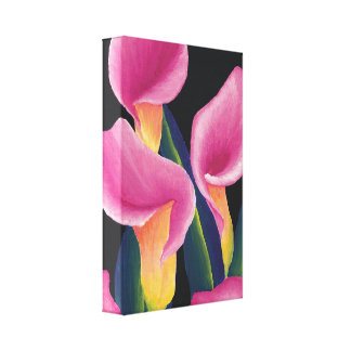 Calla lilies stretched canvas print